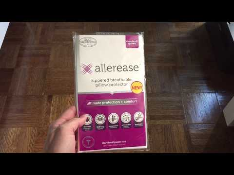 Allerease Ultimate Protection Pillow Protector Dust Mite and Allergy-proof Pillow Cover Review