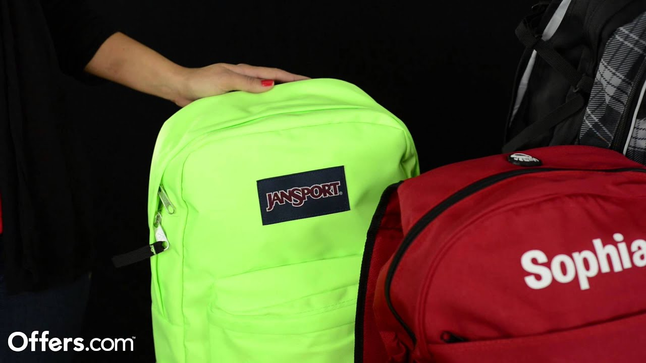 Jansport Super Break Backpack Review 2013 - Offers.com - YouTube