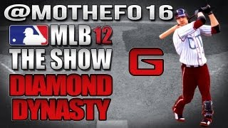 @MotheFo16 | MLB 12 The Show: Diamond Dynasty Game vs. Houston Astros