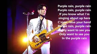 PRINCE  - Purple rain - clear version w/ lyrics