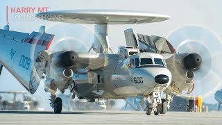 Most Amazing: E-2C Hawkeye Opening Up Its Wings For Takeoff