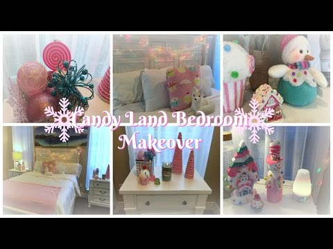 CHRISTMAS ROOM TOUR | CANDY LAND BEDROOM 2016 - YouTube