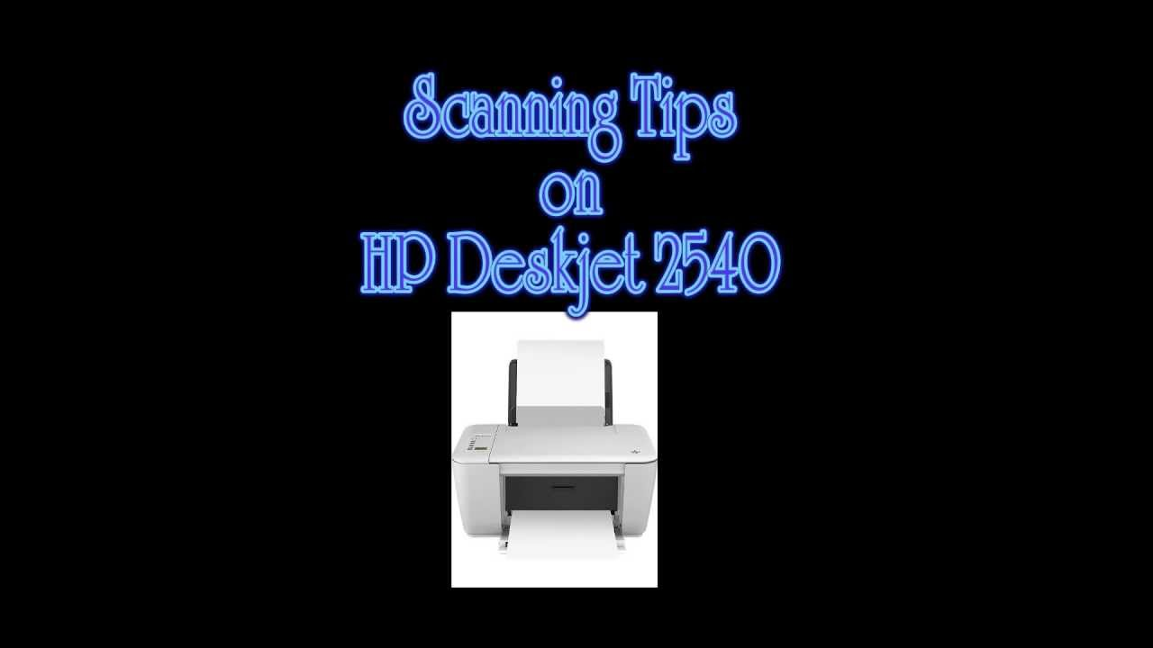 hp deskjet 2540 tips on scanning multiple photos youtube rh youtube com