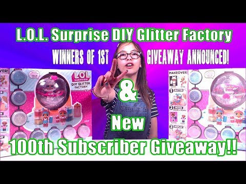 L.O.L. Surprise DIY Glitter Factory + My 2nd Giveaway!!!
