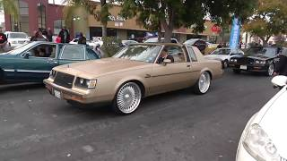 CRENSHAW CRUISING ON NEW YEARS DAY LO RIDES AND BURN OUTS