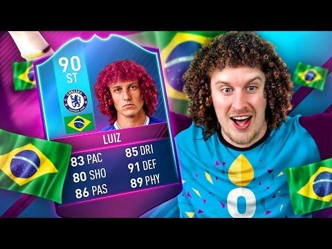 OMG WHAT A CARD! 90 RATED STRIKER DAVID LUIZ! THE ULTIMATE PREMIUM SBC LUIZ! FIFA 17 ULTIMATE TEAM