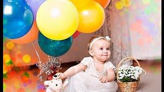 📷 Слайд-шоу поздравление 💝 с Днем рождения девочке 1 годик