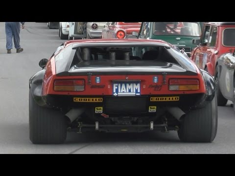 What A Sound! Four De Tomaso Pantera And Mangusta At Arosa Classic Car 2015