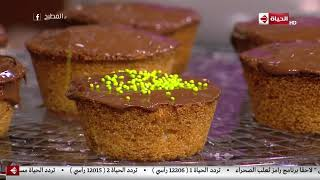 """المطبخ - طريقة تزيين """"البسبوسة كب كيك"""" على طريقة الشيف أسماء مسلم"""