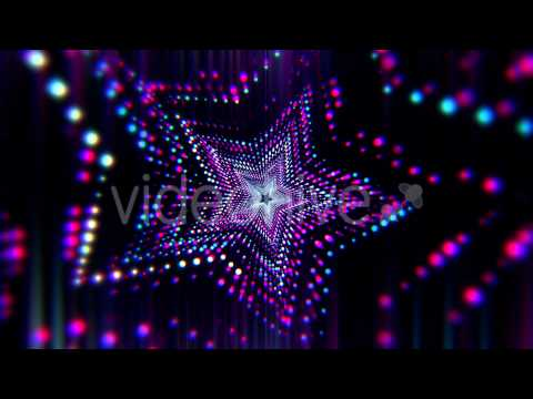 VJ Neon Star Tunnel Co... Light Colourful Backgrounds