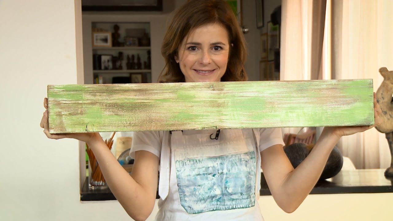 Pannello in fibra di legno impiallacciato. Shabby Chic Fai Da Te Come Decapare Youtube