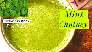 Pudina Chutney / Mint Chutney / Green Chutney - Healthy Chutney Recipes