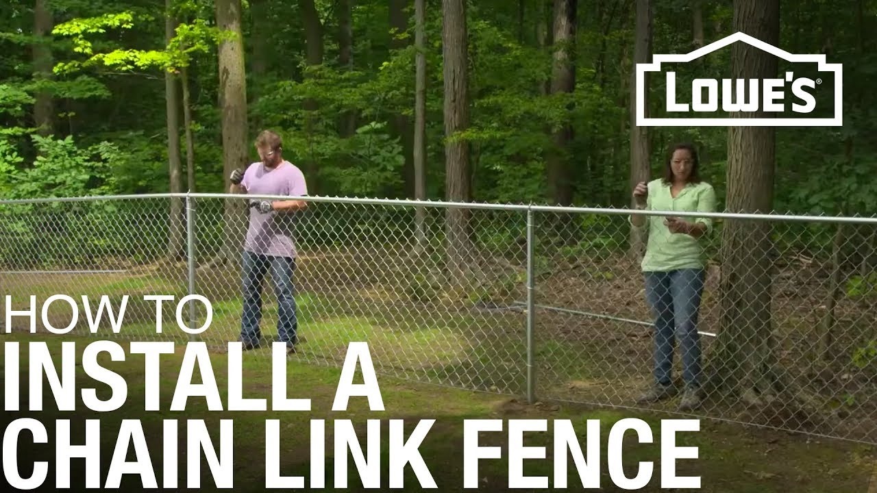 how to install a chain link fence [ 1280 x 720 Pixel ]