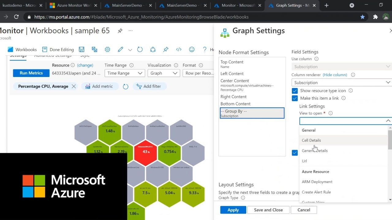 How to Build A Graph and Use Links in Azure Workbooks
