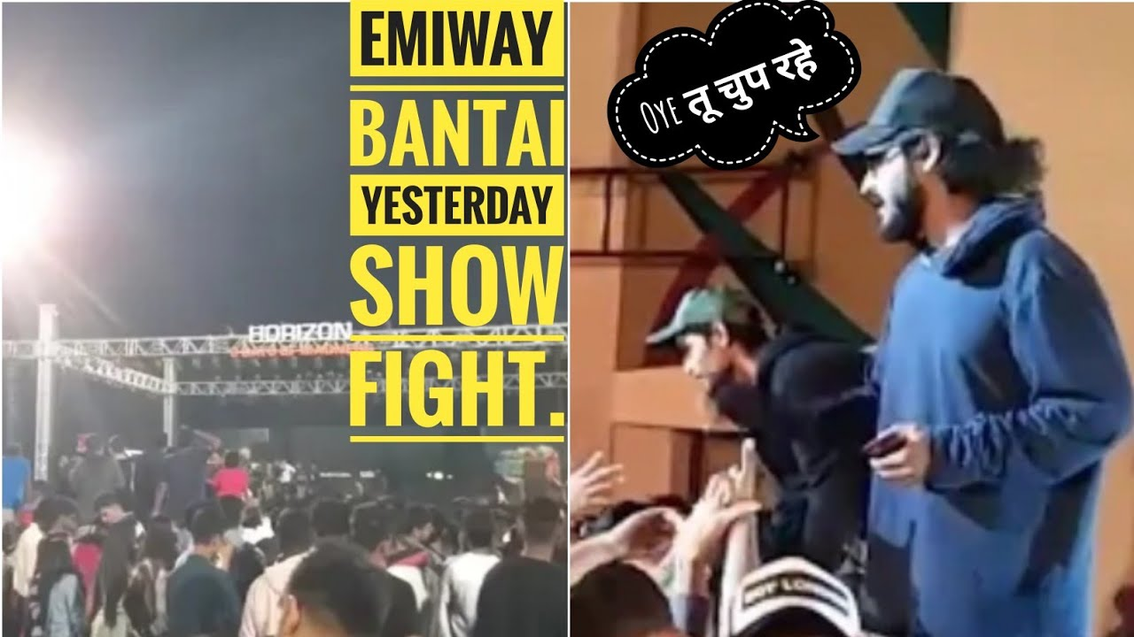 Fight In Emiway Bantai Show Yesterday । Emiway Bantai Yesterday Show Fight