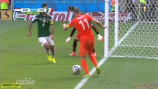 【スロー検証】ロッペン・ハゲがPK狙いで迫真の演技・ダイブ!完全に誤審... 西村の再来でメキシコ敗北へ オランダvsメキシコ 2014 FIFA ワールドカップブラジル