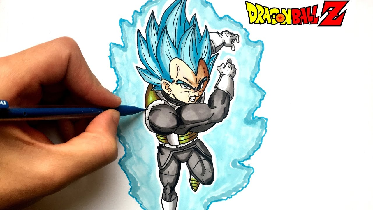 Dessin vegeta super sayan bleu dragon ball super youtube - Dessin dragon couleur ...