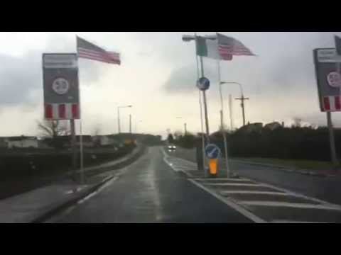 Driving Through Moneygall, County Offaly, Ireland.