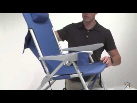 back pack beach chairs restoration hardware aviator chair used rio extra wide backpack product review video youtube