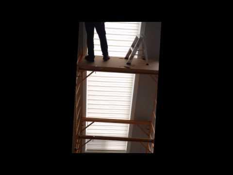 Fancy Draperies 16 Feet Hight Blind Installing