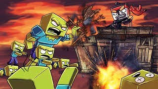 Minecraft | ZOMBIE BASE CHALLENGE - Zombie Horde Attacks! (How Long Can I LAST?)