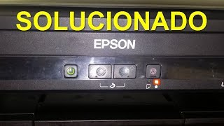 Cómo QUITAR bombillo de PARPADEO EPSON L210 L220 L100 L110 L300 L350 L355 L375 L380 y MAS