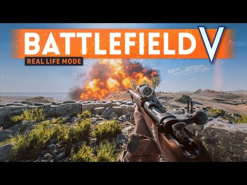 BATTLEFIELD 5 REAL LIFE MODE - 4K 60FPS Ultra Settings (No HUD Gameplay)