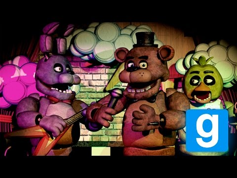 Gmod: ОПАСНЫЕ ГНОМЫ! - five nights at freddys - Garrys Mod