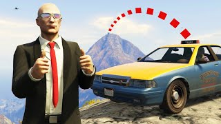 Can you catch a taxi to the top of Mount Chiliad in GTA 5 Online?
