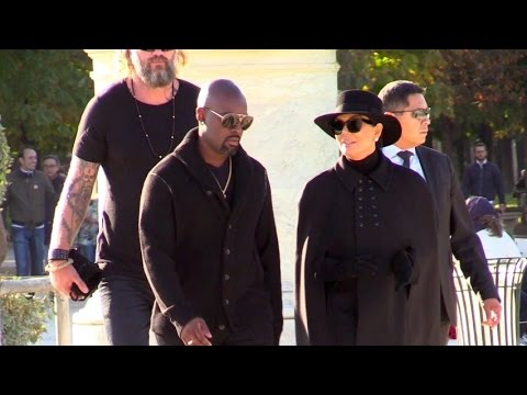 EXCLUSIVE - Kris Jenner and boyfriend attend Patrick Demarchelier shooting at Jardin des Tuileries