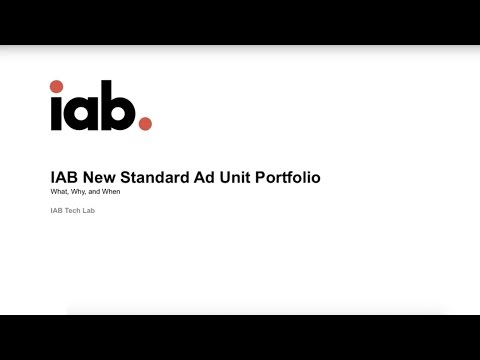 The IAB New Ad Portfolio: What, Why, & When (Webinar)