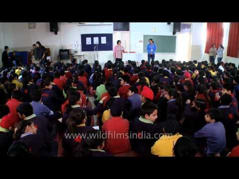 The Shri Ram School students, sitting together for Arjun Vajpai
