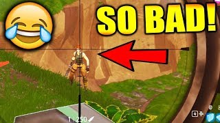DO I SHOOT? WORST PLAYER IN FORTNITE!!! (Fortnite Battle Royale Gameplay)