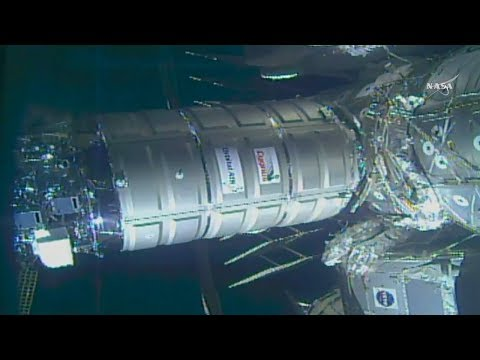 Full Orbital ATK Cygnus OA-9 Resupply Ship Berthing And Installation To International Space Station