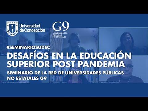 """#SeminariosUdeC: """"Desafíos en la Educación Superior post pandemia"""""""