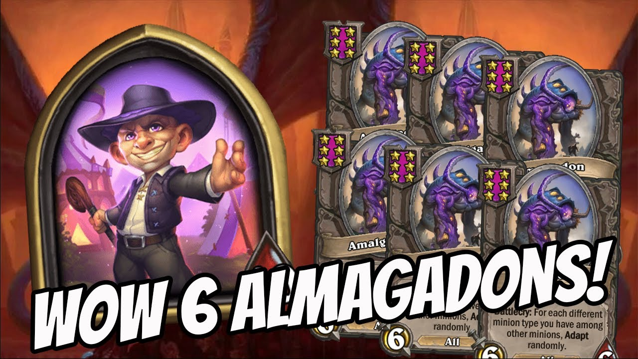 CRAZY 6 ALMAGADON WITH THE POWER OF SILAS TICKETS! | Hearthstone Battlegrounds