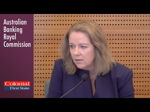 The head of Colonial First State testifies at the Banking Royal Commission (2.5)