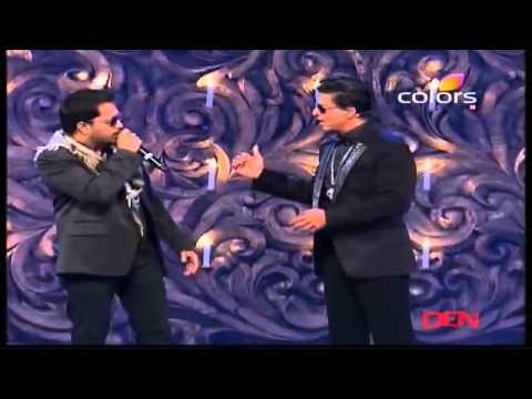 Mika Singh with Shahrukh Khan SRK