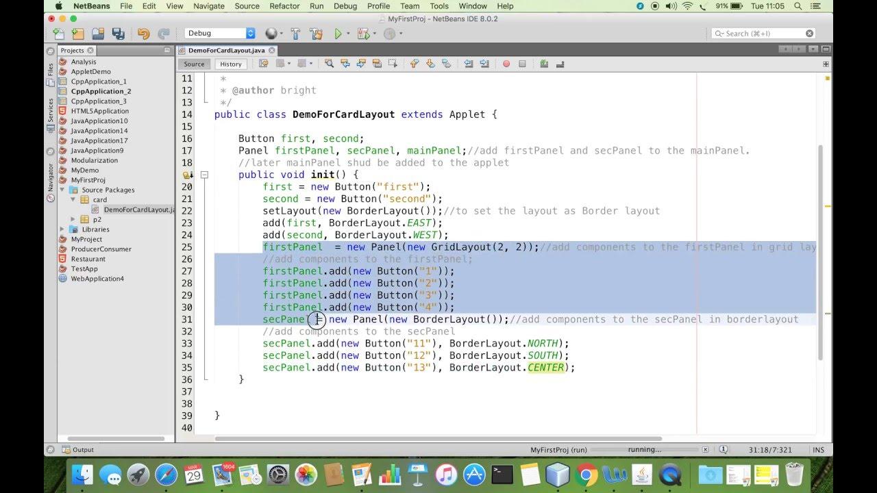 Cardlayout Java Awt Demonstration Youtube