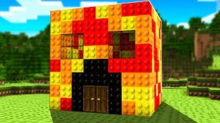 Extreme LEGO Lucky Block Build BATTLE! - Minecraft Mods