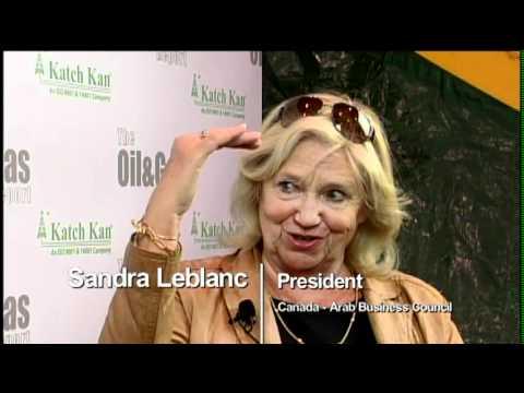 Sandra Leblanc, Canada Arab Business Council - Global Petroleum Show 2012