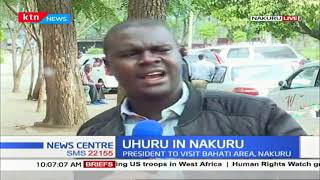 Nakuru residents throw support for president Uhuru, slams MP Kimani Ngunjiri for dismal performance