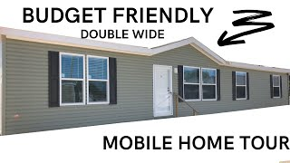 Double Wide Mobile Home for Someone on a Budget! 3 bed 2 bath 32x66 Double Wide | Mobile Home Tour