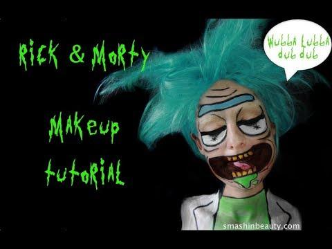 Rick and morty makeup
