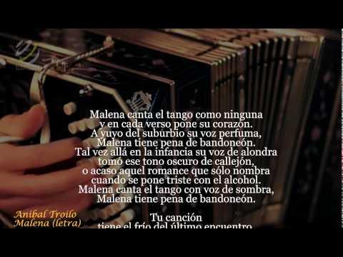 Anibal Troilo - Malena (Letra)