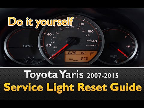 2017 Toyota Yaris Reset Maintenance Light