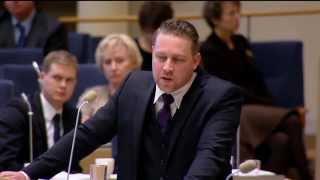Mattias Karlsson (SD) Partiledardebatt, anförande med repliker 2015-01-14 Sverigedemokraterna