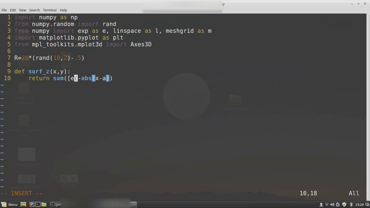 Three minute coding - tesselated 3D surface Python Matplotlib - YouTube