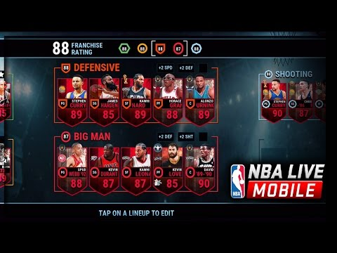 BEST NBA LIVE MOBILE TEAM! Steph Curry Gameplay!