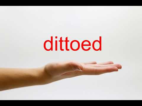 How to Pronounce dittoed - American English